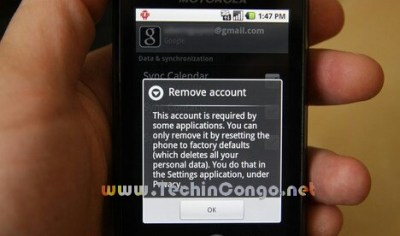 supprimer compte google android