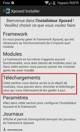 Telechargement Module Xposed 1