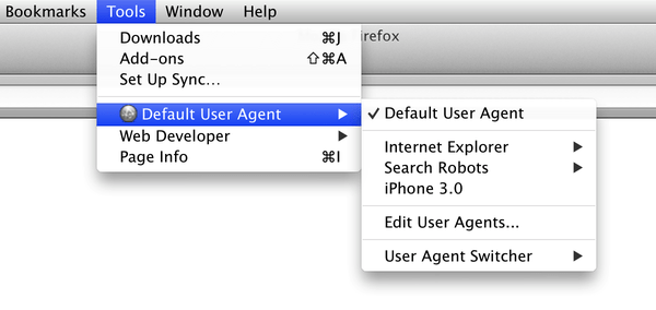 Chnager User Agent