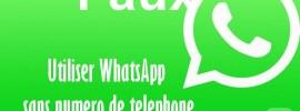 Comment utiliser WhatsApp sans Numéro – Faux Numéro +1 et +63