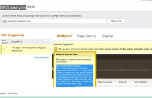 bing 300x193 The Page is Missing Meta Language Information in Bing SEO Analyzer, What is It ?