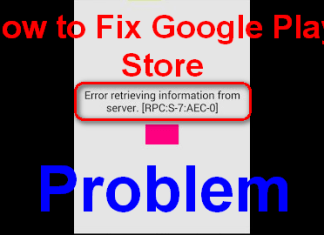 Play Store Error Retrieving Information from Server
