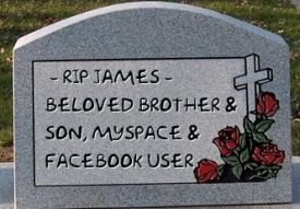 MySpace and Facebook User Tombstone