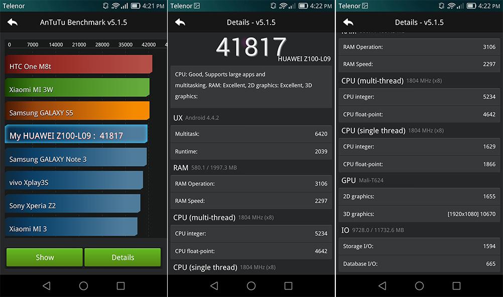 Huawei ascend mate 7 antutu benchmark