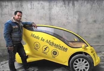 Afghani engineer builts a solar car