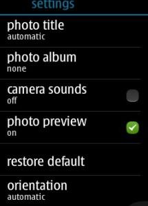 Asha 305 Camera Sound