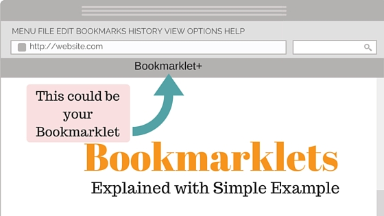 Bookmarklet explained with simple example