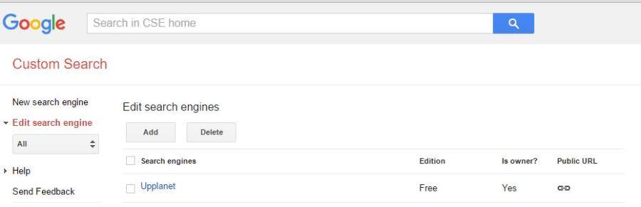 Add WordPress Google search page