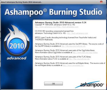 Ashampoo Burning Studio 9.241 Ashampoo Burning Studio 2010 Advanced FREE 9.24 Download Last Update