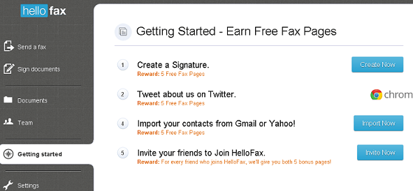 hellofax-earn free fax pages