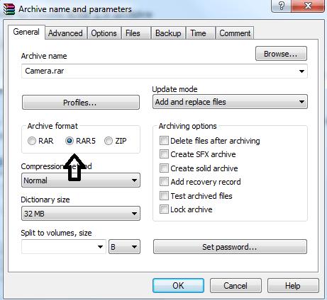 RAR5 archive format