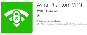 avira phantom vpn android
