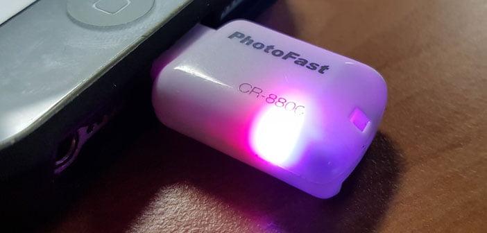 LEDs indicando actividad en la microSD