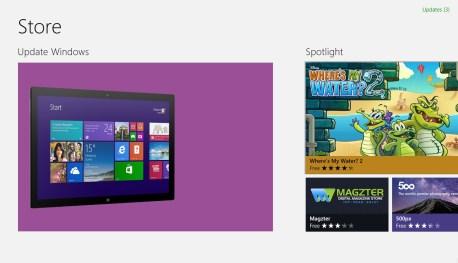 Windows Store - Update to Windows 8.1