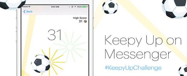 Facebook Messenger'da futbol oyunu oynayın