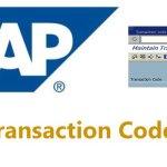 SAP MM Transaction Codes (Material Management)