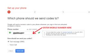 Google 2 step verification 1