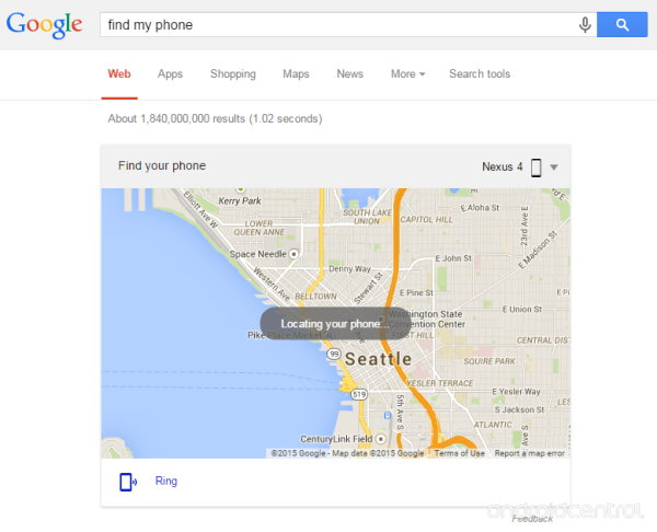 "Google search ""Find My Phone"" to locate your missing android Phone"