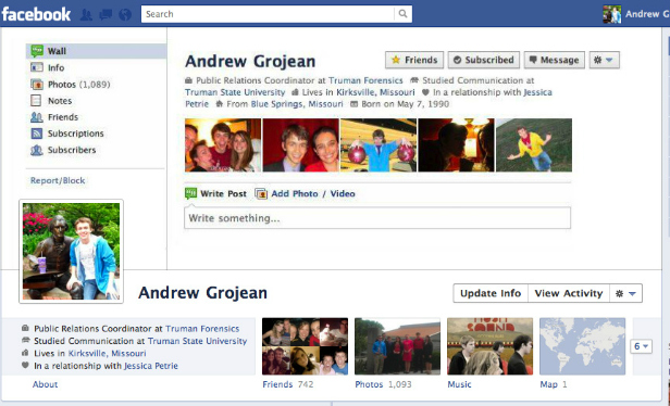 Facebook Cover Design - Andrew Grojean - Old Facebook
