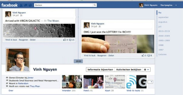 Facebook Cover Design - Vinh Nguyen - Timeline Moon