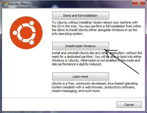 how to install ubuntu inside your windows 7, windows vista or windows xp [ tutorial]