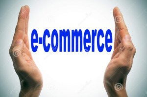 man-hands-forming-brackets-word-e-commerce-written-them