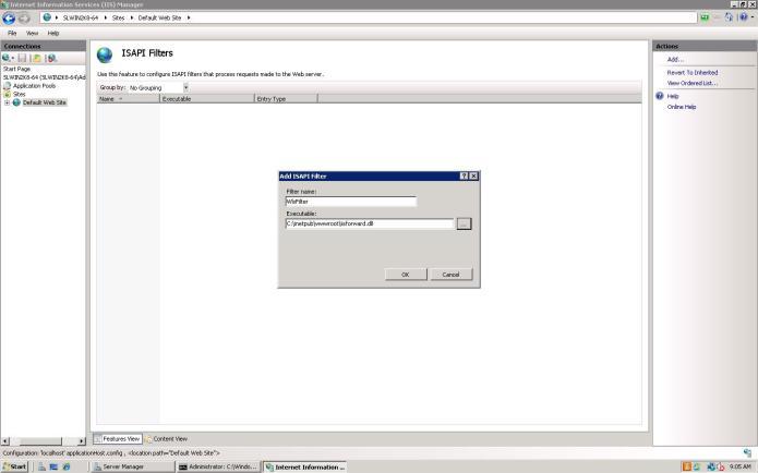 IIS 7 ISAPI filters