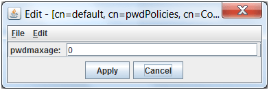 Ldap browser maxage modify