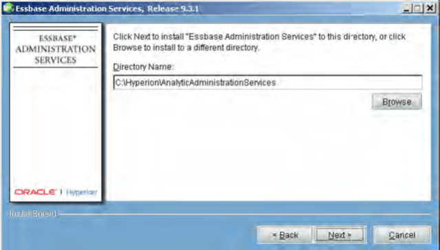 Installing Essbase Administration Services Path