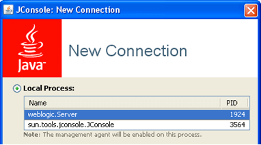 JConsole New Connection
