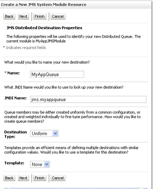 weblogic distributed queue