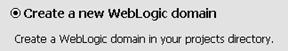 Create a new WebLogic domain