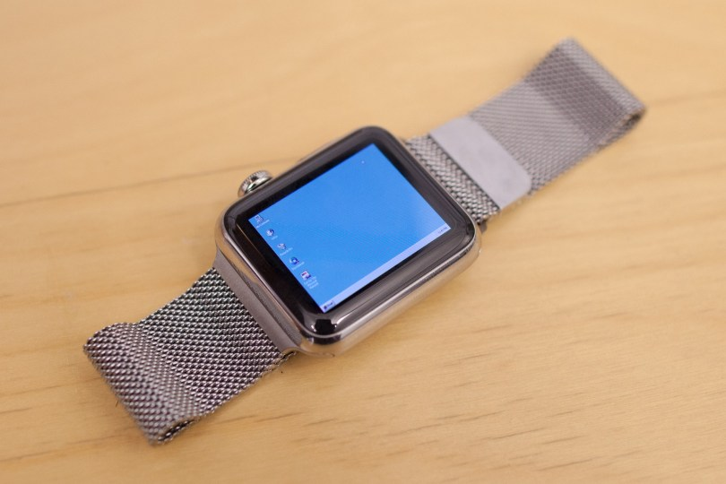 Apple Watch running Windows95