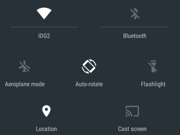 android lollipop Notification bar image