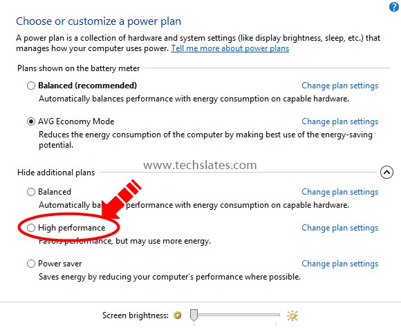 Adjust your Power Plan that favors PC performance picture