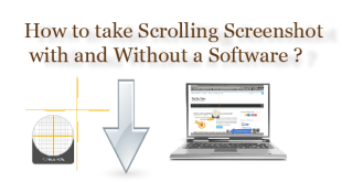 How to take Scrolling Screenshots  with and without software