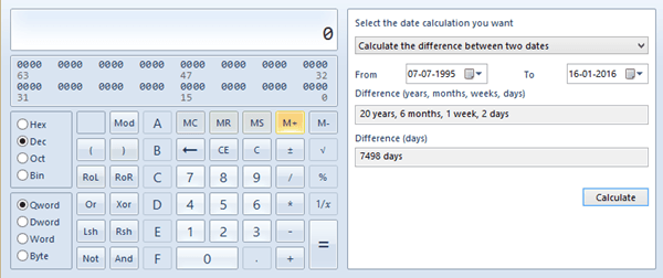 Programmer-Calculator-date-difference
