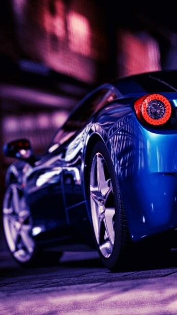 HD sports cars wallpapers for iPhone 5 - Ferrari 458 Rear