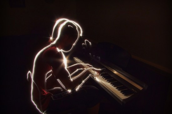 Piano master - Light Painting