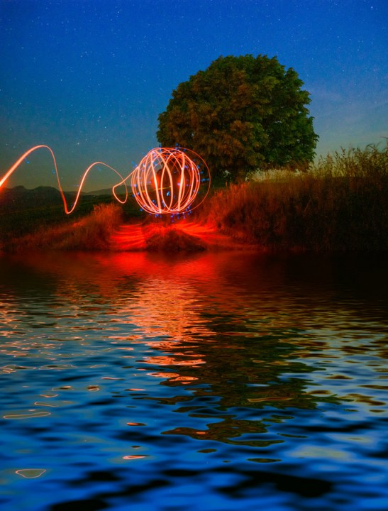 red rings - Light Painting Photography