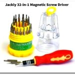 Jackly 32 in 1 interchangeable magnetic screwdriver toolkit