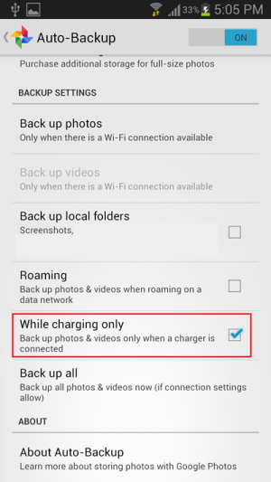 select-while-charging-only