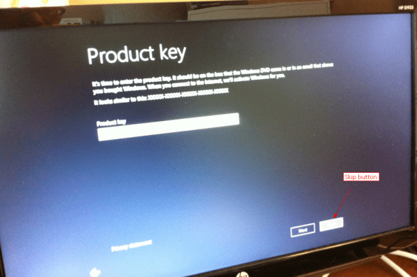 Windows-8-Skip-Product-Key