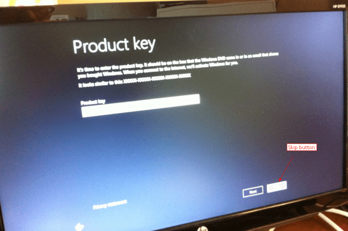 how to run windows without a product key
