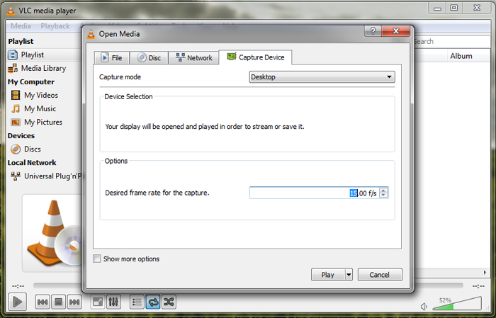 How to Record Desktop Video using VLC Media Player