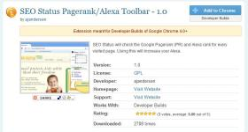 pageranker-google chrome