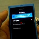 Nokia N9 remote control robot