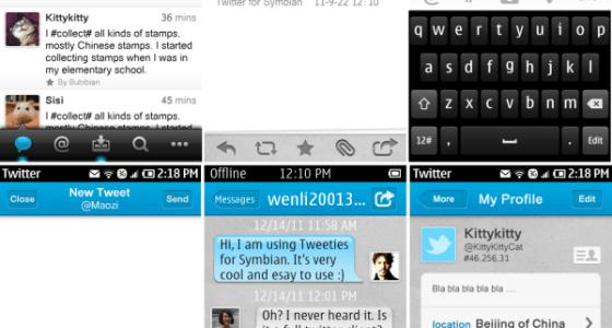 Tweeties for Symbian
