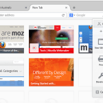 New user interface for the Firefox browser