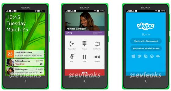 Nokia Android phone UI